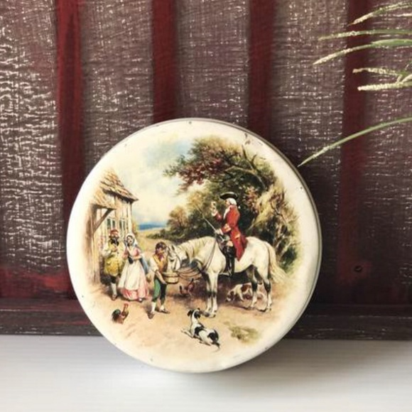 Riley's Toffee Soldier Tin, Vtg Horse Collector